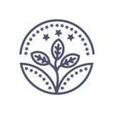 Symbole de signe d'affaires de vecteur d'icône de récompense d'affaires d'arbre illustration libre de droits