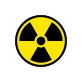 Symbole de signe de risque d'irradiation Image libre de droits