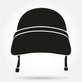 Symbole de silhouette de casque militaire Photo libre de droits