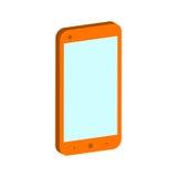 Symbole de Smartphone Icône ou logo isométrique plate 3D style Pictogr Photo stock