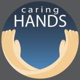Symbole de soin de mains Photographie stock