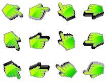 Symbole de souris de main de vecteur Photographie stock