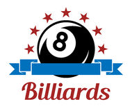 Symbole de sport de billard Photo stock
