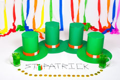 Fond/texture du jour de St Patrick Photographie stock