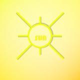 Symbole de Sun Image libre de droits