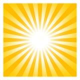 Symbole de Sun ou de soleil avec des faisceaux comme vecteur sur un fond d'isolement illustration de vecteur