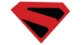 Symbole de Superman S du royaume venu image libre de droits