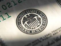 Symbole de système des Etats-Unis Federal Reserve photo stock