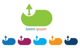 Symbole de téléchargement de Web de Logo Template Web Upload Icon de téléchargement de Web Illustration Libre de Droits