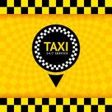 Symbole de taxi, fond neuf Photographie stock libre de droits