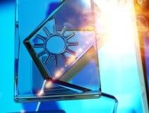 Symbole de temps - le soleil Image libre de droits