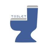 Symbole de toilette illustration stock