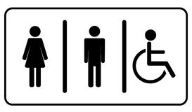 Symbole de toilette de toilettes Images libres de droits