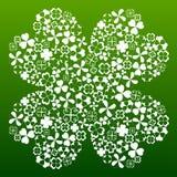 Symbole de trèfle de quatre feuilles illustration libre de droits