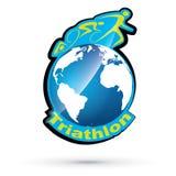 Symbole de triathlon de vecteur Photos libres de droits