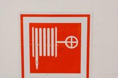 Symbole de tuyau d'incendie photo libre de droits