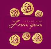 Symbole de vecteur de fleurs Photos libres de droits