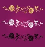 Symbole de vecteur de fleurs Image libre de droits