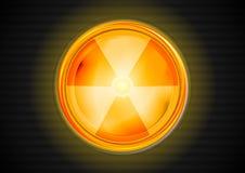 Symbole de vecteur de rayonnement nucléaire Image stock