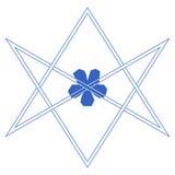 Symbole de vecteur pour la communauté ésotérique : Le hexagram unicursale ou l'étoile six-aiguë dessinée unicursally illustration stock