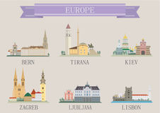 Symbole de ville. Europe Photographie stock