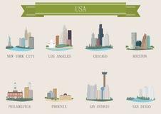 Symbole de ville. LES Etats-Unis Photographie stock libre de droits