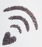 Symbole de wifi de café Images libres de droits
