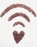 Symbole de wifi de café Photos libres de droits