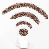 Symbole de wifi de café Image libre de droits