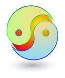 Symbole de yang de Yin Photos libres de droits