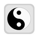 Symbole de yang de Yin. illustration de vecteur
