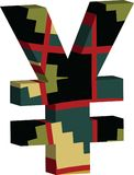 symbole de Yens 3D Illustration de Vecteur