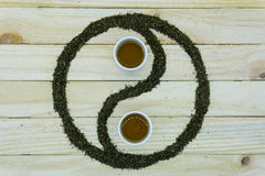 Symbole de Yin et de Yang Photos libres de droits