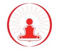 Symbole de yoga - illustration Image stock