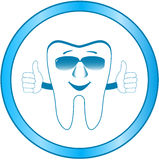 Symbole dentaire de clinique avec la dent de sourire illustration stock