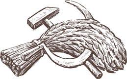 Symbole der Arbeit und der Ernte Stockfotografie