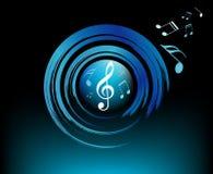 Symbole der modernen Musik mit Bürsten Lizenzfreie Stockfotos