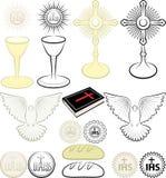 Symbole des Christentums Stockbilder