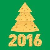 Symbole des Käse-neuen Jahres Lizenzfreie Stockbilder