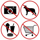 Symbole des Verbots Stockbild