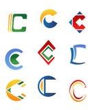 Symbole des Zeichens C Stockfoto
