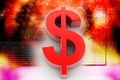 Symbole dollar Images libres de droits