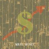 Symbole dollar avec la flèche, concept croissant d'affaires. Photographie stock libre de droits