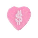 Symbole dollar de coeur de sucrerie Photographie stock libre de droits