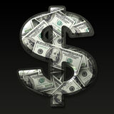 Symbole dollar des USA Photographie stock libre de droits