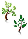 symbole drzewni royalty ilustracja