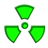 Symbole du danger nucléaire Photos libres de droits