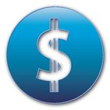 Symbole du dollar Photo stock