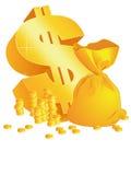symbole du dollar 3d Images stock