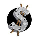 Symbole du dollar - béton criqué Illustration de Vecteur